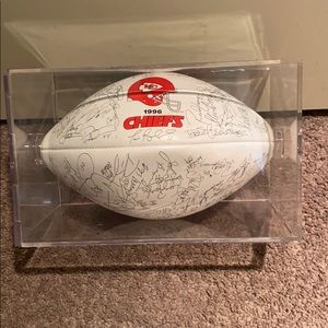 1996 Kansas City chiefs NFL signed football